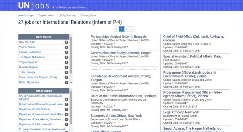 UNJobs-International-Relations