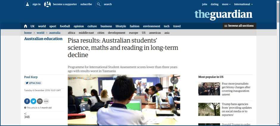 Pisa results Australian students