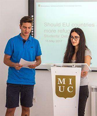 Students debate EU response to refugees at MIUC