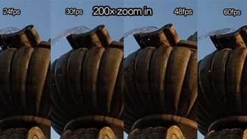 About digital gadgets, frame rates, still images and fps.