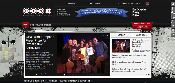 CINS won European Press Prize for investigative journalism