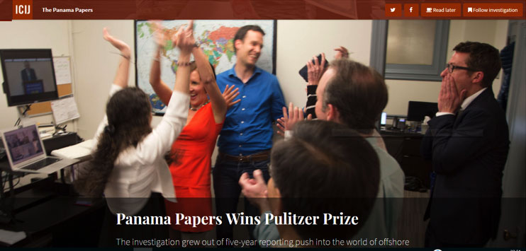 Panama Papers Wins Pulitzer Prize